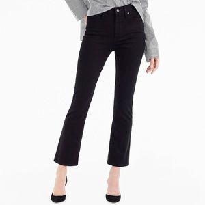J. Crew Billie Demi-Boot Crop Jeans Black Sz 28